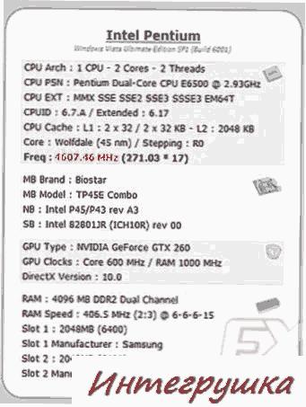 Intel Pentium E6500K с разблокированным множителем