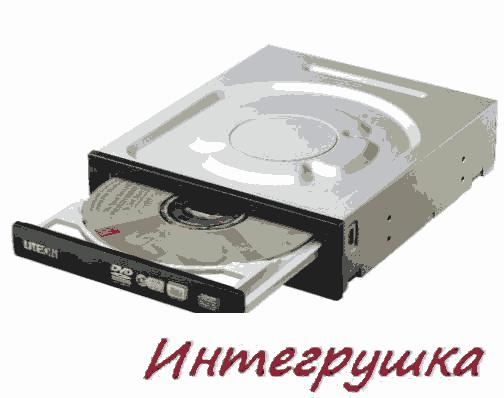 24-высокоскоростной черкающий DVD привод LiteON iHAS524