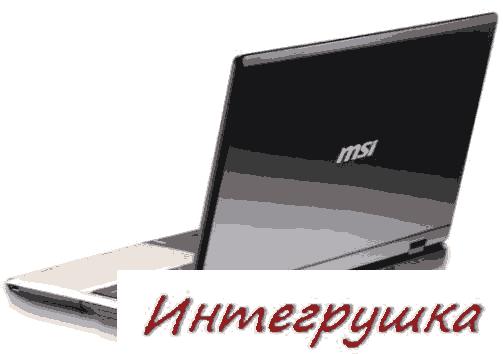 MSI CR610  16-ти дюймовый ноутбук с процессором Athlon II