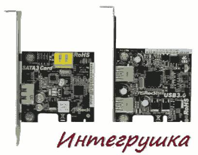 Контроллеры SATA 6,0 Гбит/с и USB 3.0 от ASRock